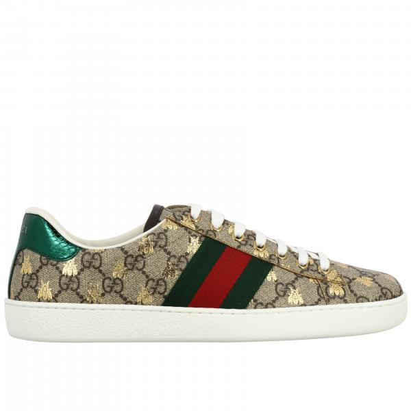 Gucci New Ace sneakers in GG Supreme leather with Bees