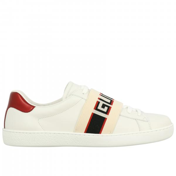 Gucci New Ace sneakers in leather with elastic band
