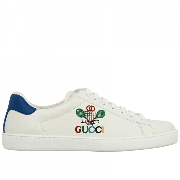 Gucci New Ace leather sneakers with Gucci Band logo