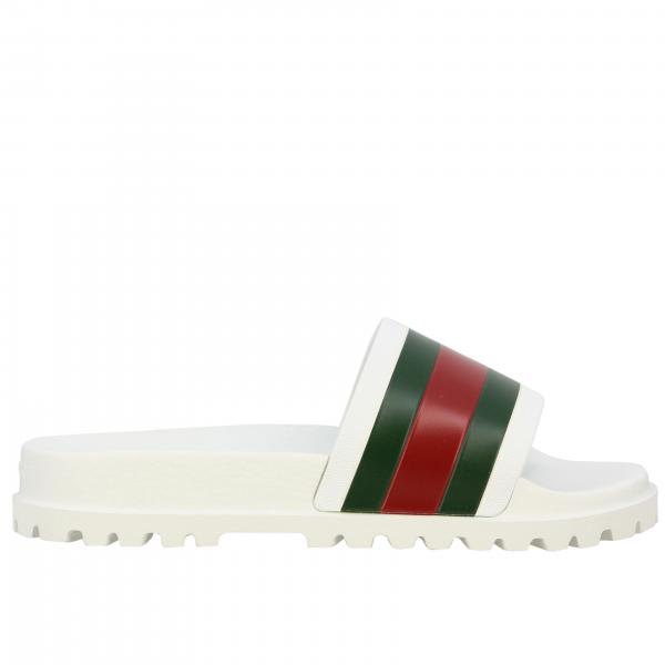 Gucci Pursuit rubber sandal with Web band