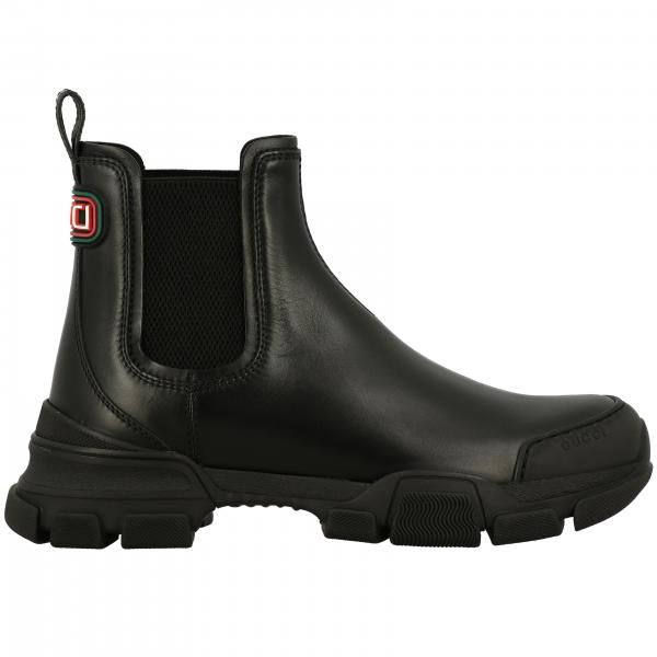 Gucci Leon ankle boot in leather with tank bottom