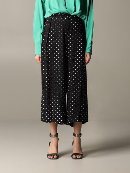 Pinko Crème brule trousers with polka dots