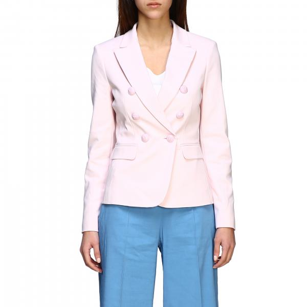 Pinko Grondaie double-breasted jacket in technical fabric