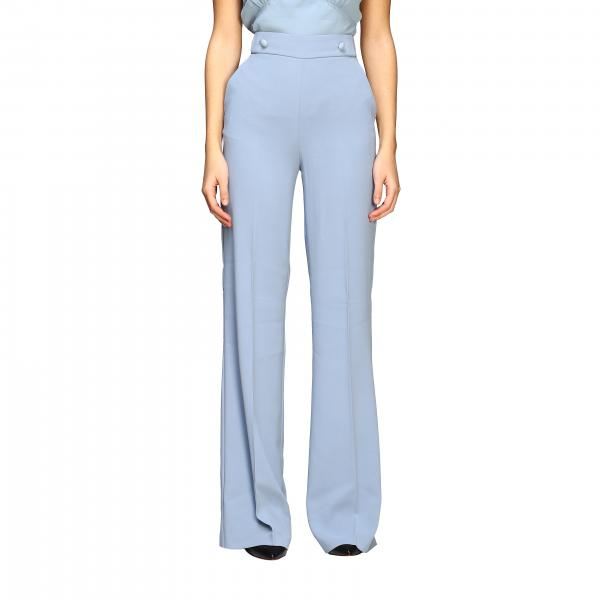 Pinko 2 Sbozzare high-waisted trousers in stretch crêpe