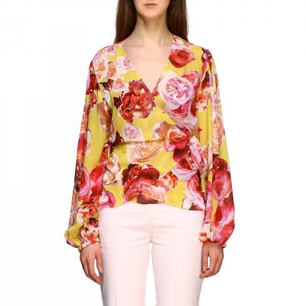 Блузка спринтом Женское Pinko