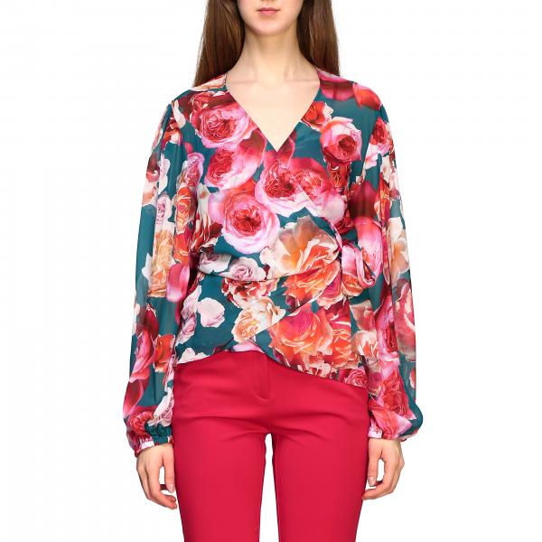 Pinko Sfoglia shirt with rose print