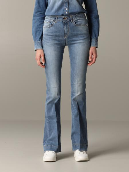 Flora 9 Pinko flared jeans with regular waist