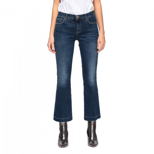 Pinko Fannie 7 trumpet jeans with high waist