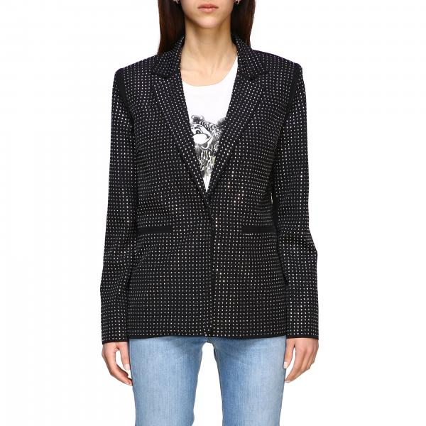 Dylan dog Pinko jacket in crystal fabric