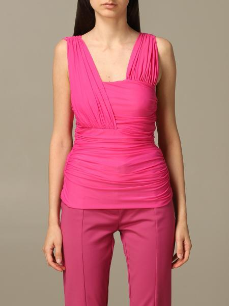 Блузка со стретч сеткой Женское Pinko