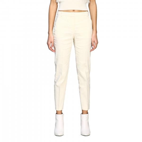 Bello 86 Pinko trousers in linen and viscose
