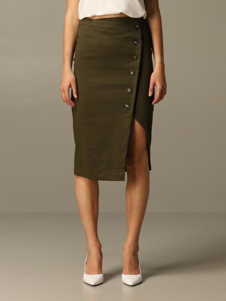 Skirt pinko bontan pencil skirt in linen and viscose Pinko - Giglio.com