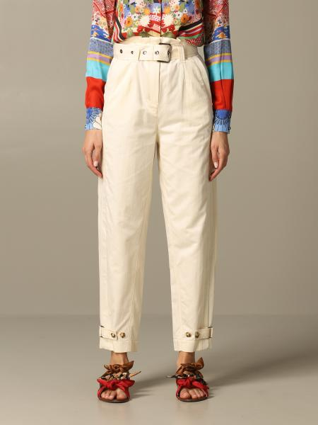 Pippo Pinko trousers in linen and cotton with a high waist