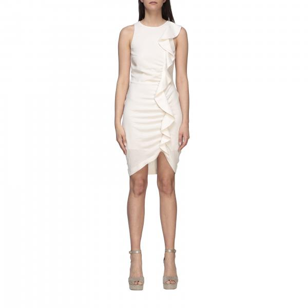 Pinko sleeveless baby blade dress with ruffles