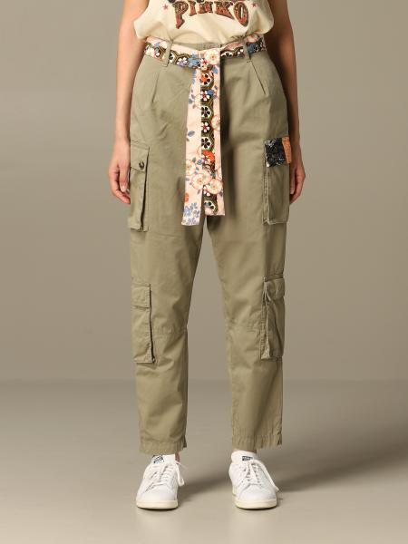 Kargo Pinko trousers in cotton with Japanese print