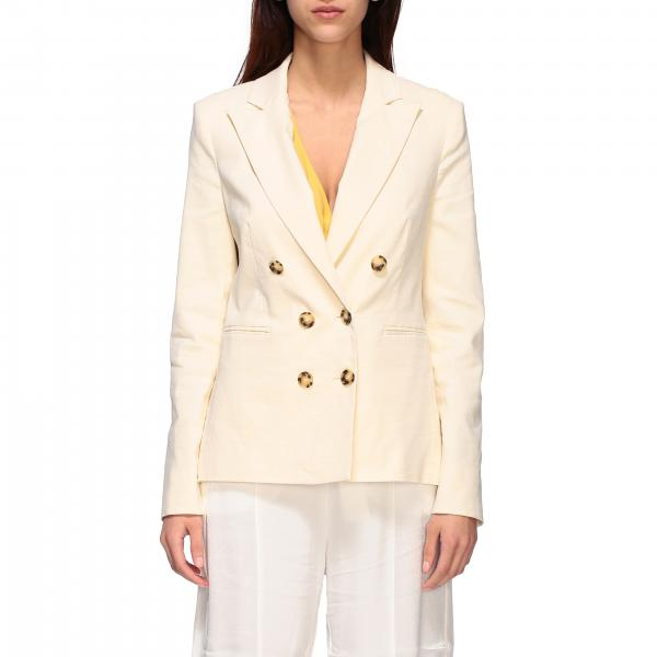 Sinbad Pinko double-breasted viscose and linen jacket