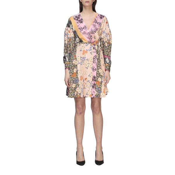 Pinko Draghetta dress with Japanese print