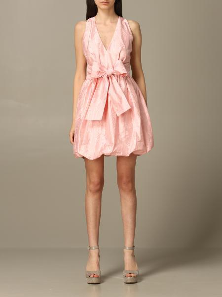 Платье без рукавов с бантом Женское Pinko