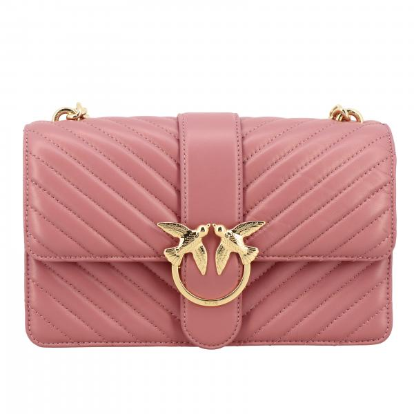 Pinko Love classic simply bag in chevron leather