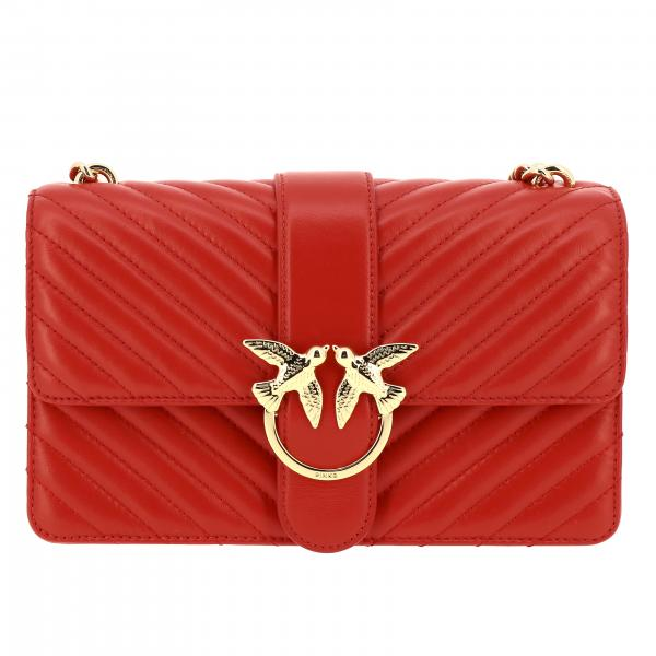 Borsa Love classic simply Pinko in pelle chevron