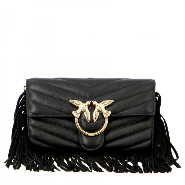 Borsa Love wallet fringes Pinko in pelle trapuntata