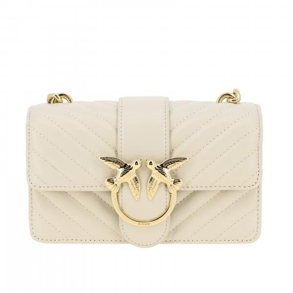 Borsa Love mini Pinko in pelle chevron