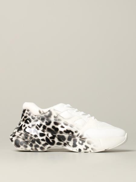 Pinko Ruby patent leather sneakers with spotted print