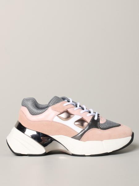 Pinko Ruby 3 sneakers in suede leather and mesh