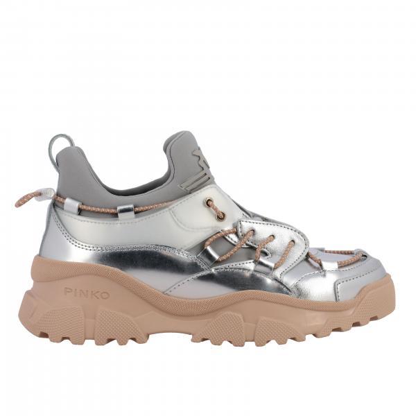 Sneakers Cumino 2 Pinko in pelle laminata