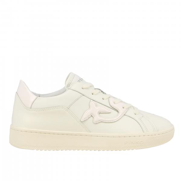 Sneakers Liquirizia Pinko in pelle con rondini laterali