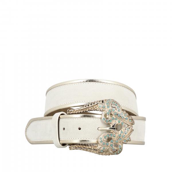 Cintura Manu Pinko in camoscio con fibbia gioiello