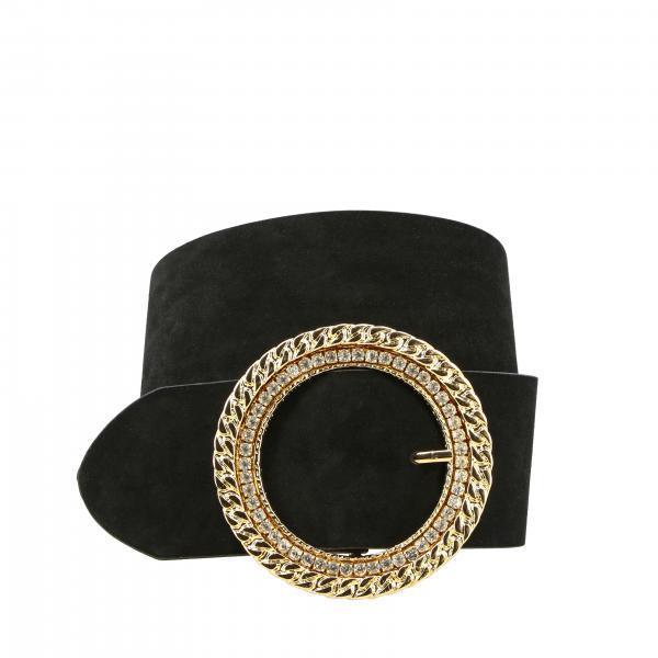 Cintura Ica Pinko in pelle con anello metallico