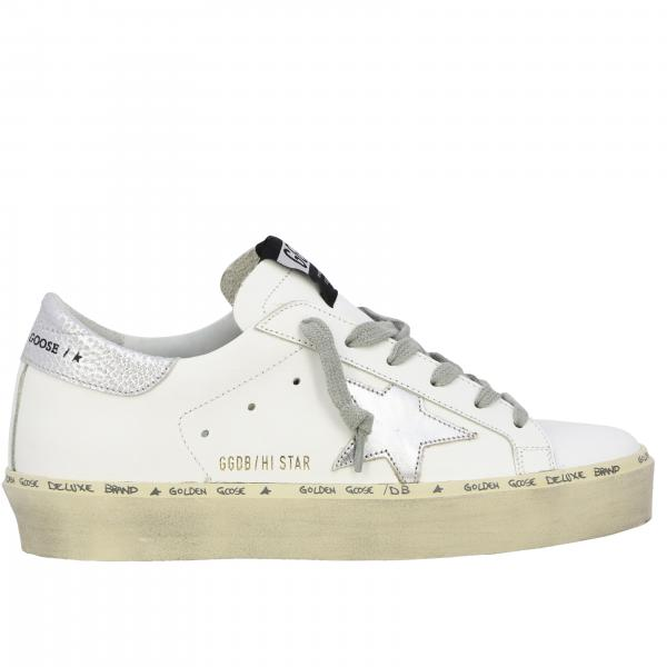 Hi star Golden Goose leather sneakers with star