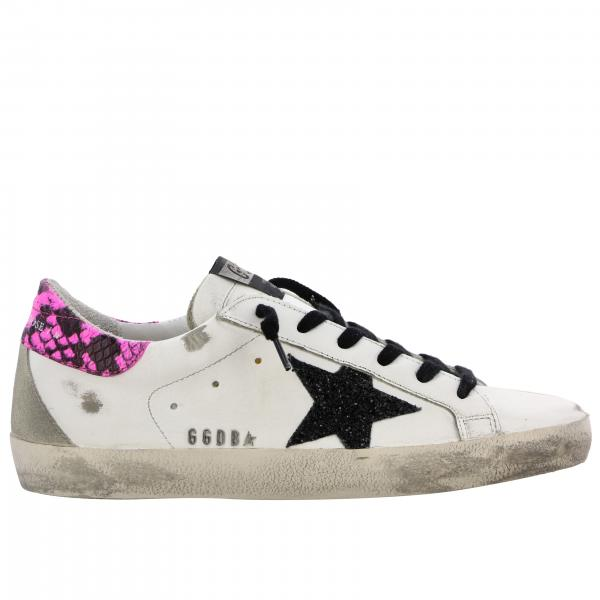Superstar Golden Goose sneakers in leather with glitter star