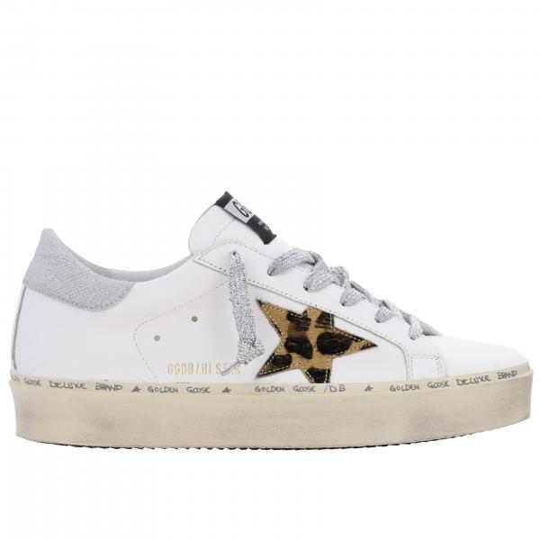 Sneakers Hi star Golden Goose in pelle con stella