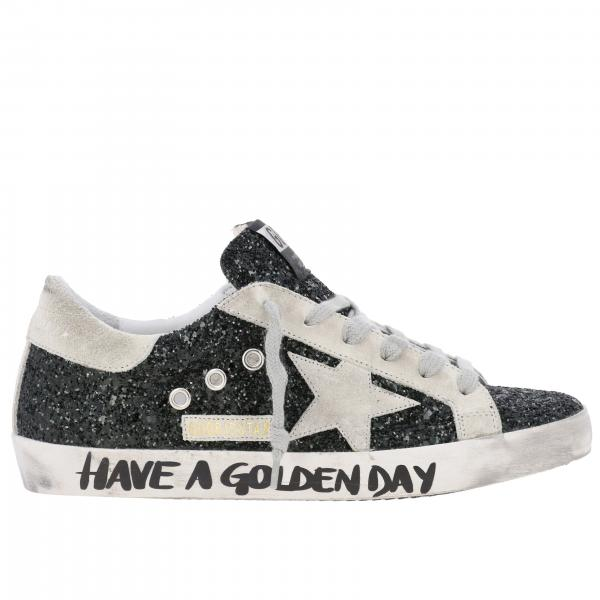 Superstar Golden Goose glitter sneakers with star