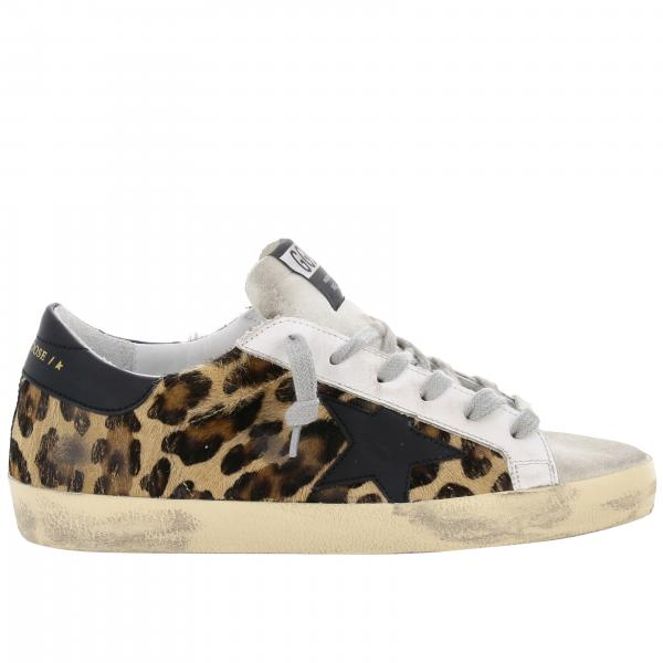 Superstar Golden Goose sneakers in animalier pony with star