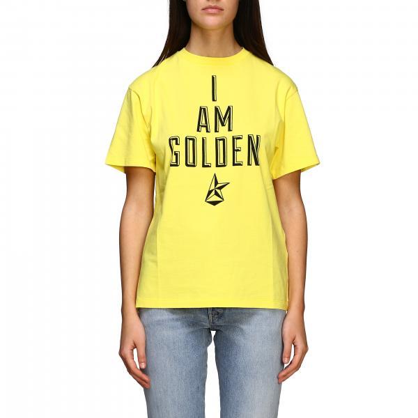 Short-sleeved Golden Goose T-shirt with I am golden print