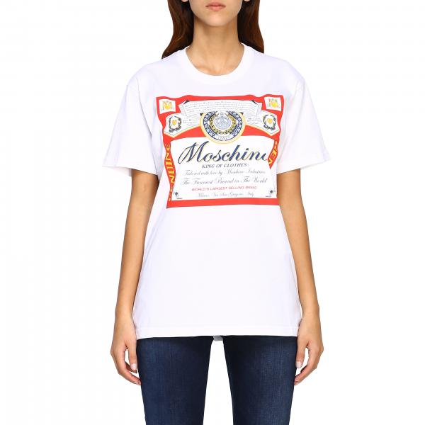 T-shirt Capsule Collection Moschino X Budweiser in jersey di cotone