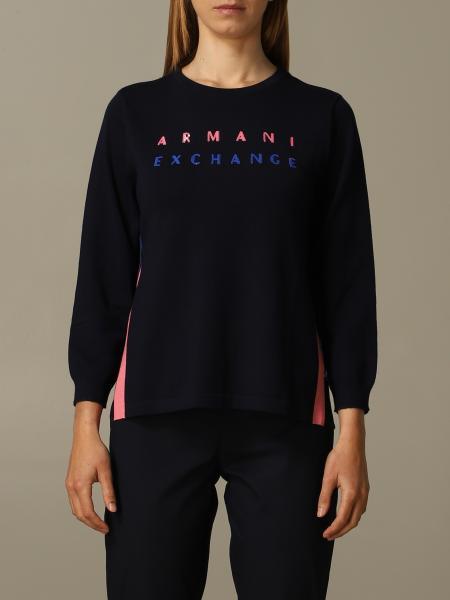 Maglia a girocollo Armani Exchange con logo