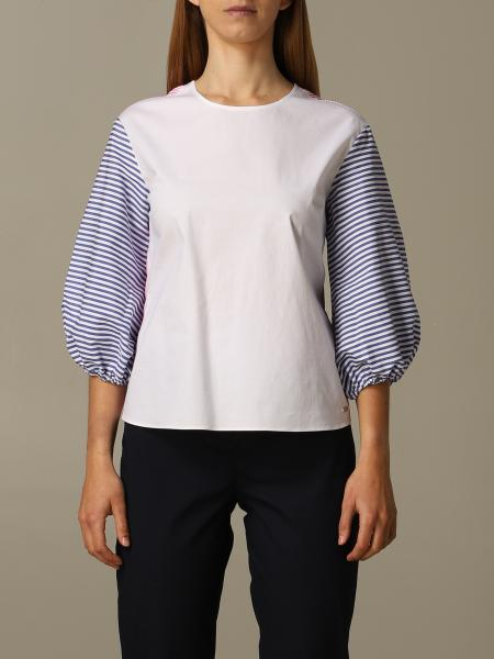 Armani Exchange sweater with striped sleeves