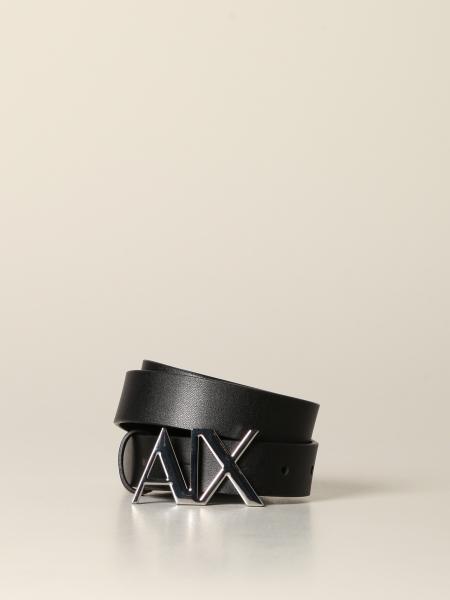 Cintura Armani Exchange in pelle con fibbia AX