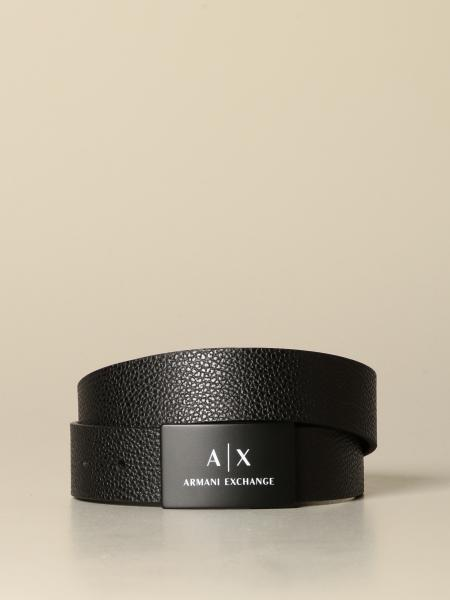 Ceinture Armani Exchange en cuir micro-grainé