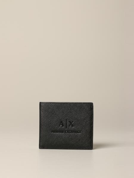 Portefeuille Armani Exchange en cuir synthétique saffiano