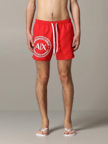 Costume a boxer Armani Exchange in nylon con logo