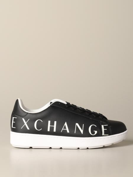 Armani Exchange sneakers in leather with logo