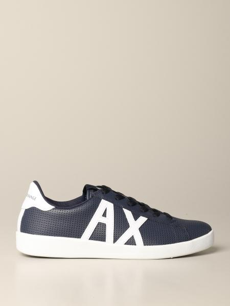 Armani Exchange sneakers in perforated leather with logo