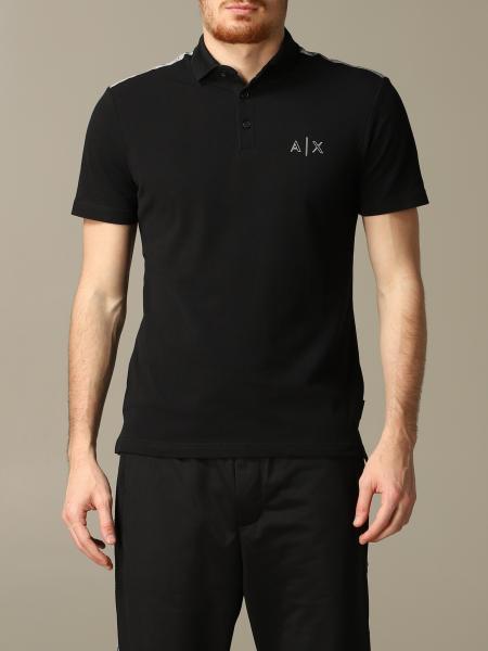 Polo Armani Exchange à manches courtes avec logo réfléchissant