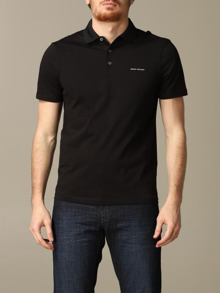 Armani Exchange polo shirt with short sleeves and logo