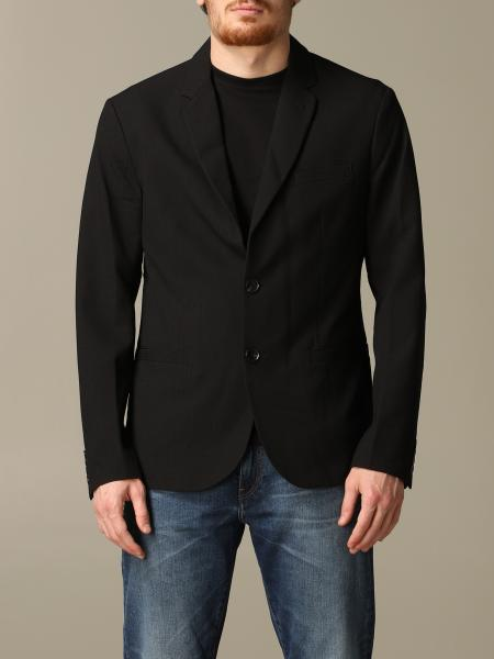 Armani Exchange single-breasted cotton jacket